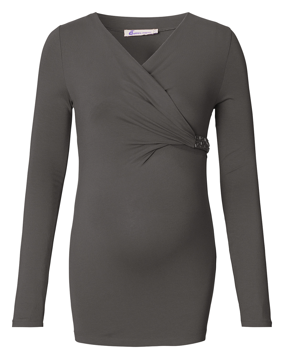Queen mum Blouse - dark grey - Positiekleding