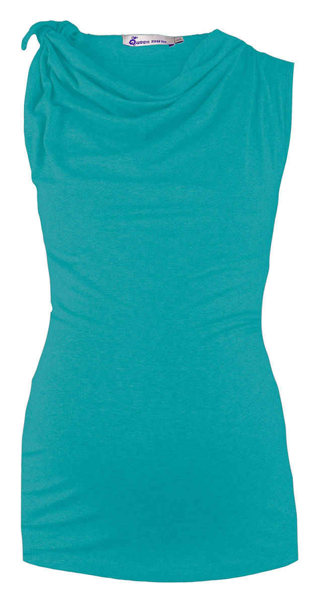Queen mum Top - aqua - Positiekleding
