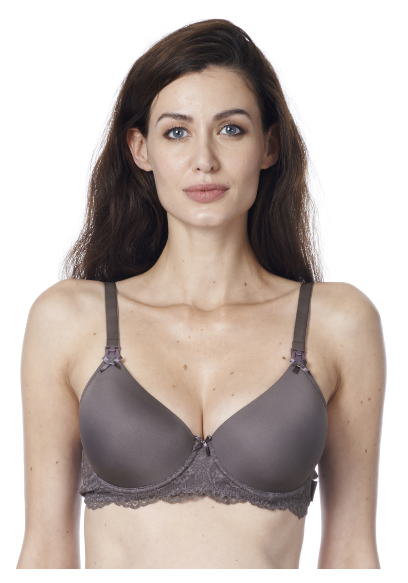 f469c029766 Noppies Nursing bra padded Hawaii – Maternity clothes Graphite