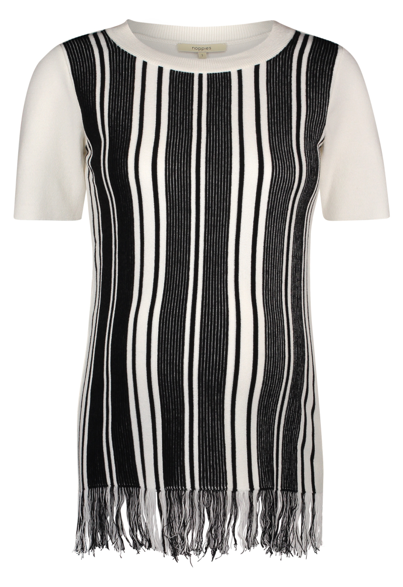 Noppies T-shirt Bregje black-stripe