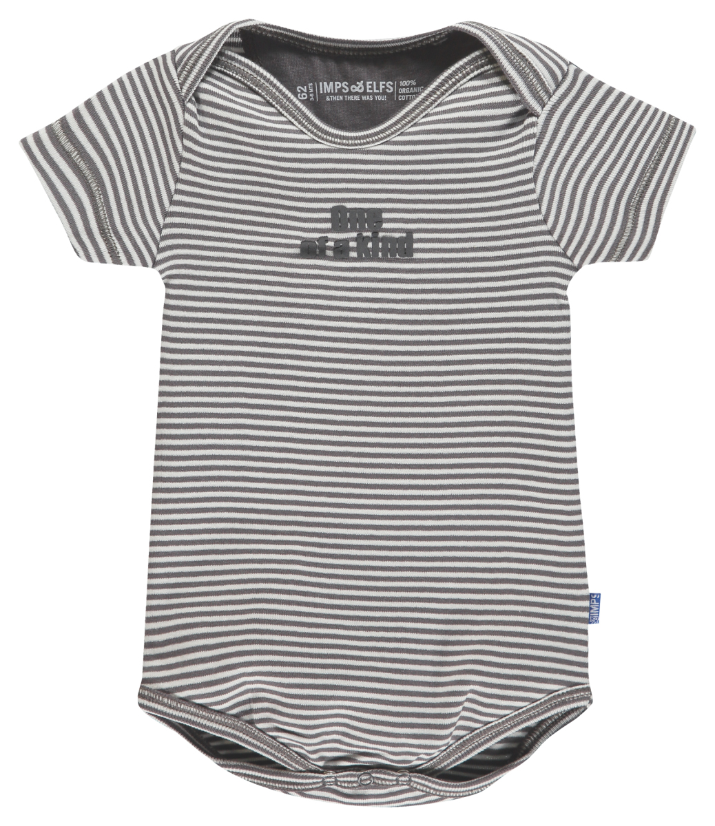 IMPS&ELFS Romper Joy Stripe stone-grey-off-white
