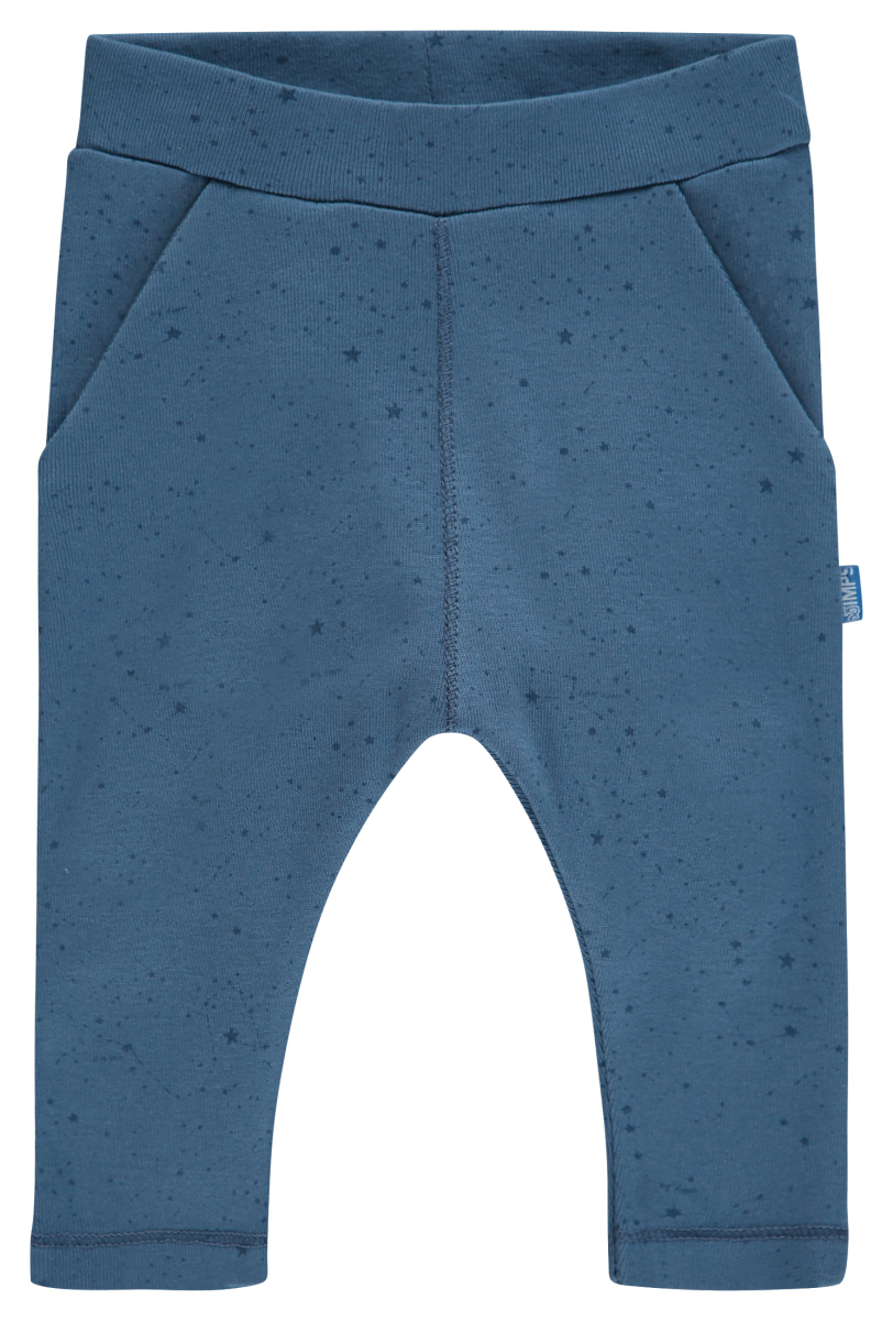 IMPS&ELFS Trousers Lux Star Print steal-blue-dark-steal-blue