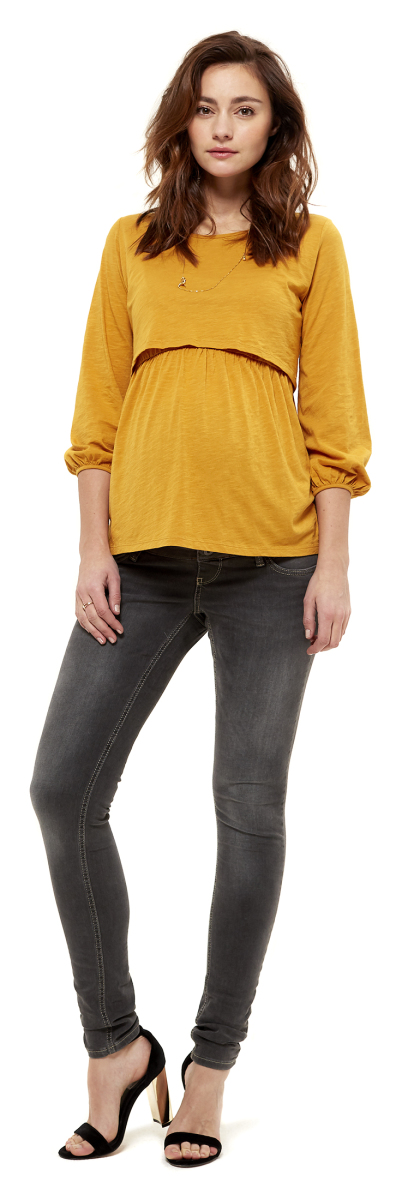 f57fcdab93df45 Queen mum Jean slim grey-denim
