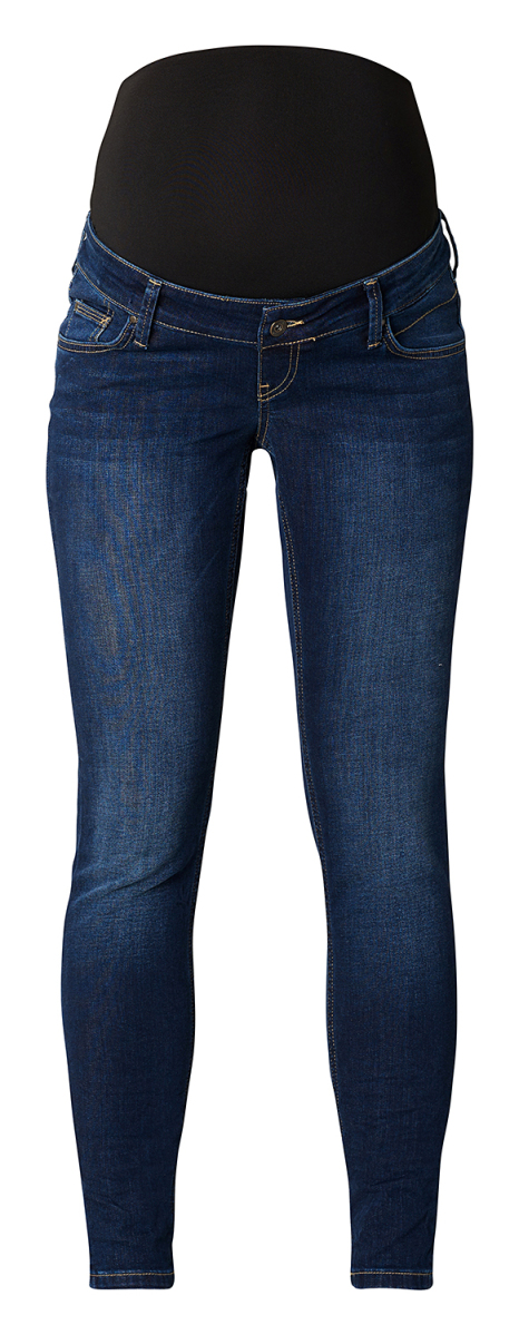 Queen mum Slim Umstandsjeans dark-wash