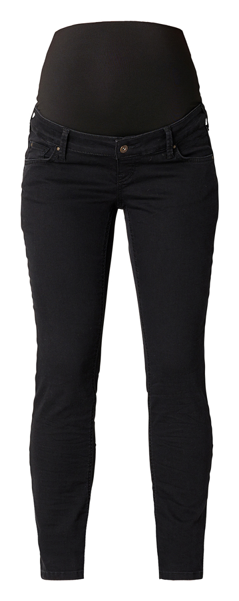 Queen mum Straight Umstandsjeans black-denim