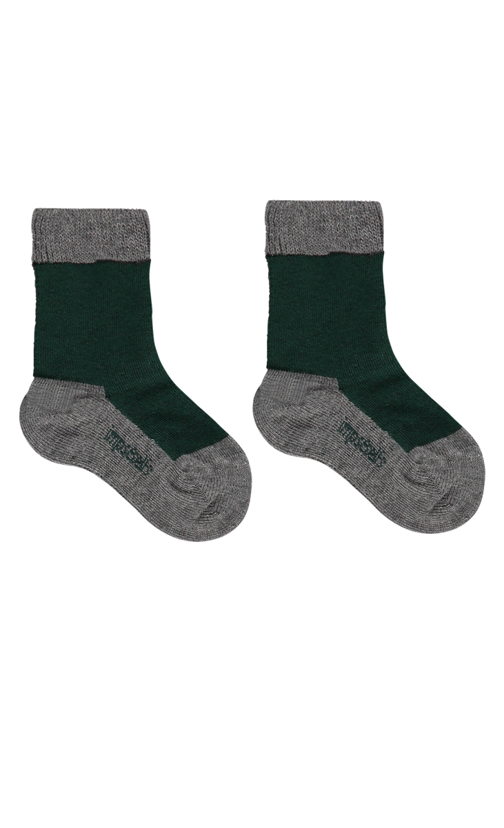 IMPS&ELFS Chaussettes forest-green-color-block