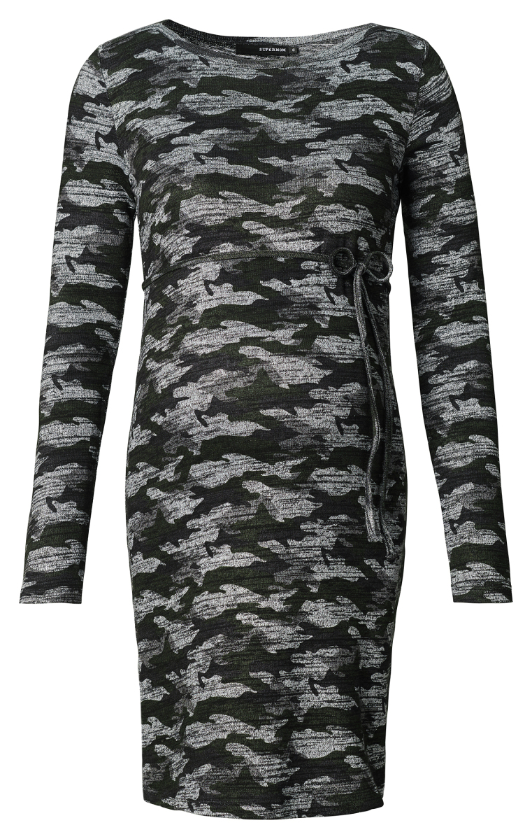 8188bfc1030 Supermom Dress Camo – Maternity clothes Army AOP