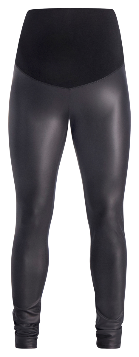 Supermom Umstandsleggings Wetlook black