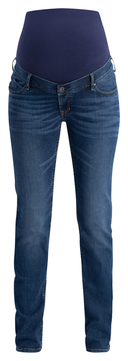 Noppies Straight Umstandsjeans Beau authentic-blue