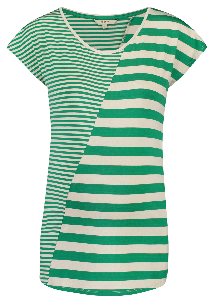aafb5d6ebef4a Noppies T-shirt Pearle – Maternity clothes Golf Green Stripe