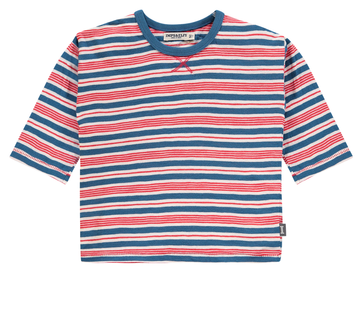 IMPS&ELFS T-shirt manches longues Florida blue-red-stripe