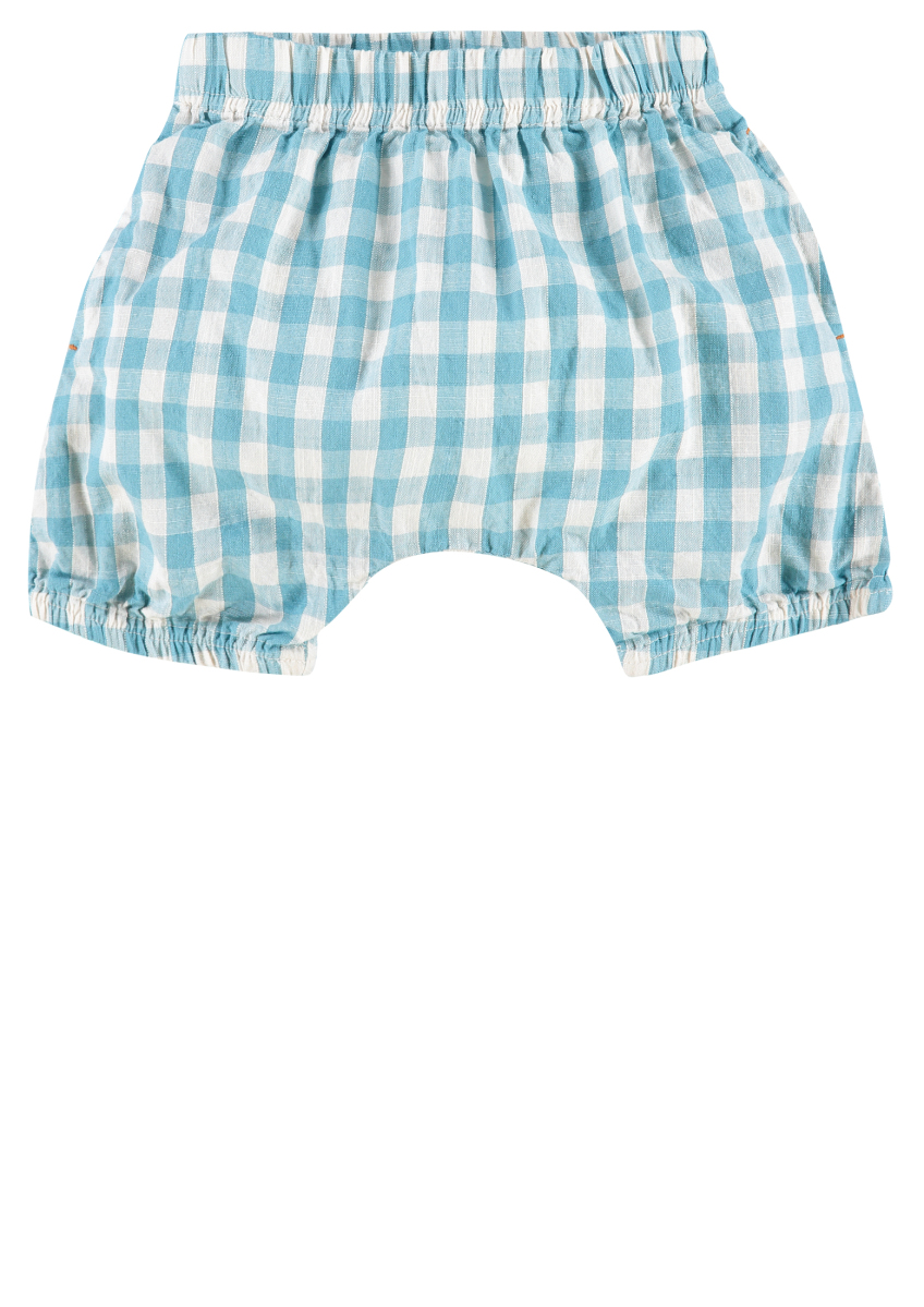 IMPS&ELFS Shorts Newark sea-blue-check