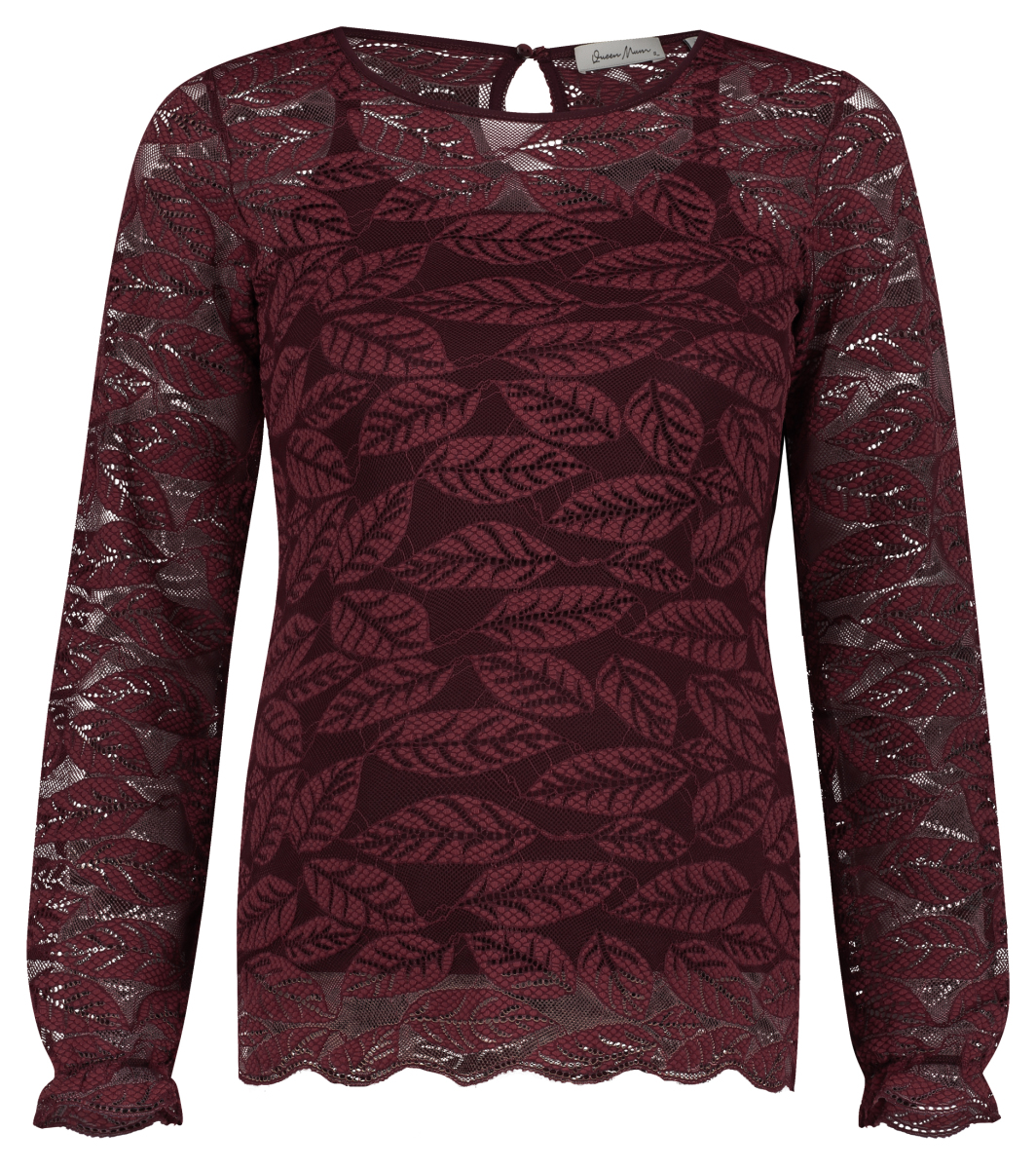 Queen mum T-shirt manches longues Top LS cabernet