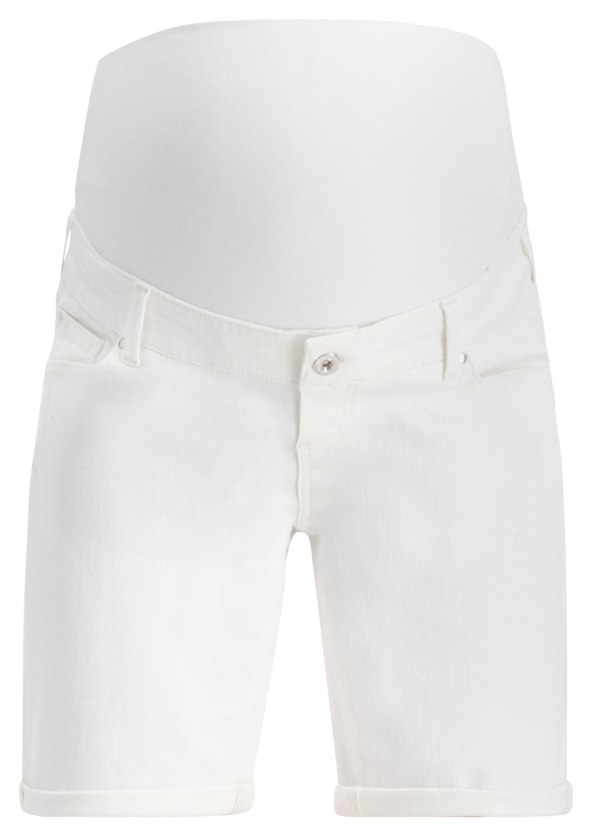 Queen mum Umstandsshorts Jeans Madison snow-white