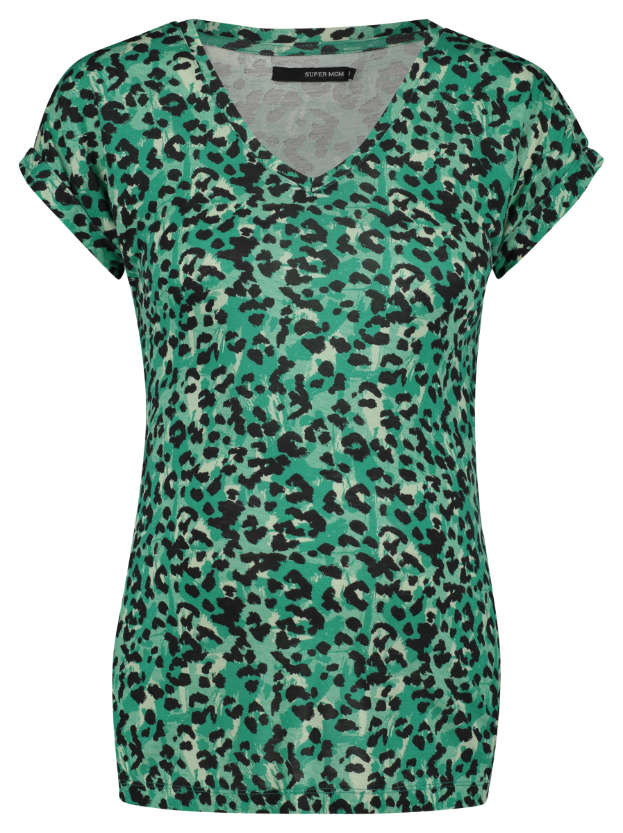 Supermom T-shirt Sea Leopard sea-green