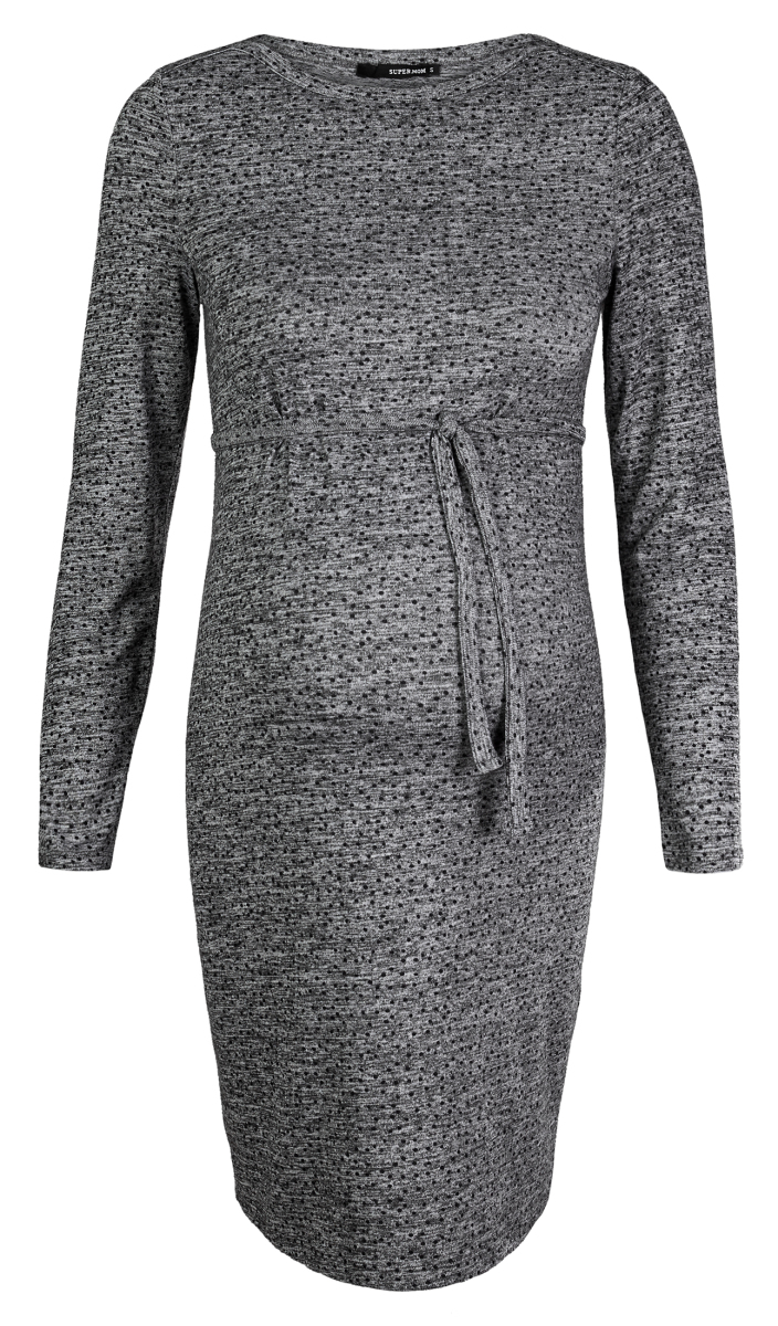 Supermom Jurk Dotted grey-melange