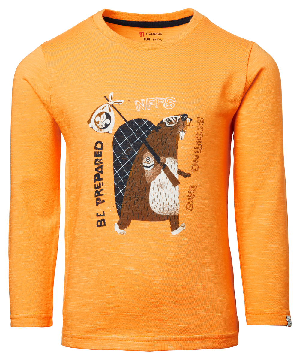 Noppies T-shirt manches longues Lelandhill blazing-orange