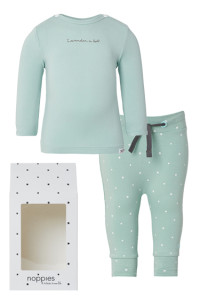 Noppies Cadeauverpakking basic grey-mint
