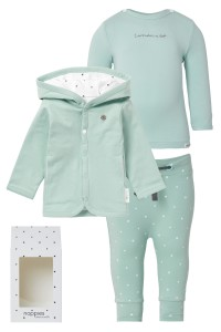 Noppies Cadeauverpakking luxe grey-mint