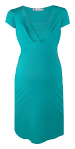 Queen mum Still-Kleid aqua