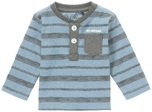 Noppies T-shirt manches longues Concord blue-melange
