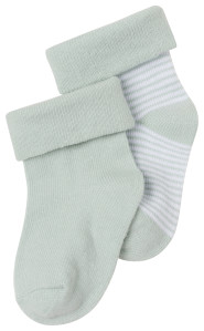 Noppies Chaussettes (2 paires) Zoë grey-mint