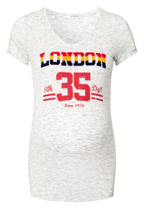 Supermom T-shirt London white-stripe