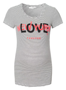 Supermom T-shirt Love white-stripe