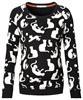 Supermom Pullover Cat off-white
