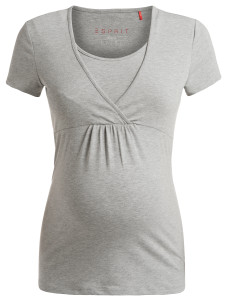 Esprit Still-Shirt grey-melange